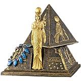Design Toscano Egyptian Goddess Isis Pyramid Treasure Box Sculpture