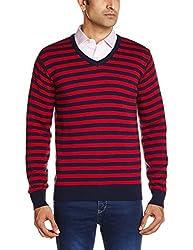 People Men's Cotton Sweater (8903880689902_P10101188001219_X-Large_Navy)