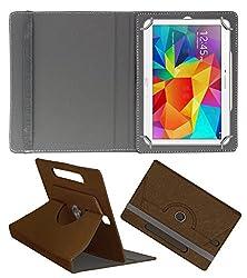 Acm Designer Rotating Case For Samsung Tablet S 10.5 Stand Cover Brown