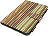 Lente Designs® Kindle Keyboard cover / case in 'Smithy Stripes' fabric