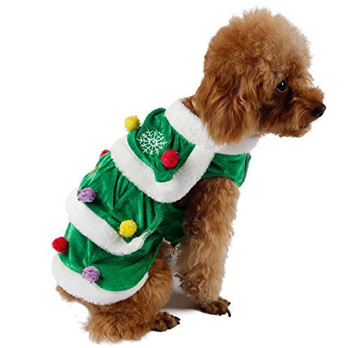 PAWZ Road Dog Winter Clothes Christmas Tree Design Double Layers Soft and Warm Very Cute XXL