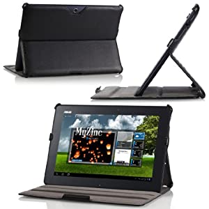 MoKo(TM) Slim-Fit Folio Cover Case (With Built-in Multi-Angle Stand) for Asus Transformer Pad TF300, BLACK