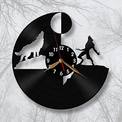 Werewolf & Wolf Wall Clock Vintage Vinyl Record