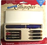 Sheaffer Viewpoint Calligraphy Pen Kit Set with 3 Nibs, Fine, Medium and Broad, Instructions, Ink Cartridges in 4 Colors and 6 Cards with Envelopes
