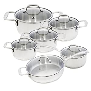 Alpine cuisine 12 piece stainless steel for Art cuisine cookware reviews