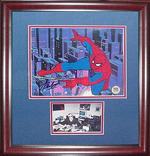 Stan Lee Spider Man signed animation cel auto autograph framed Marvel 21x19 COA (Marvel Signed Framed compare prices)