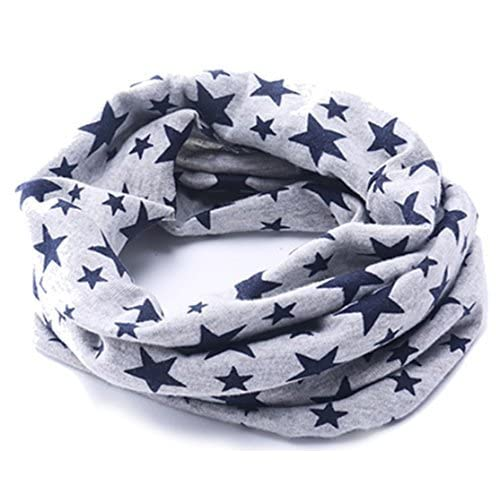 Viskey Children Kids Girls Boys Warmer Star Scarf , Grey
