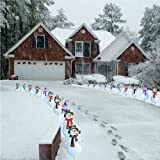 Snowmen Christmas Pathway Markers - Set of 20 NOT LIGHTS