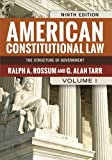 American Constitutional Law, Volume I: The Structure of Government (0813347459) by Rossum, Ralph A.