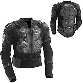 Fox Titan Sport Jacket Upper Body Armor - Black L (40-42in chest)