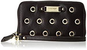 Nine West Punch Love Zip Around Wallet,Black,One Size