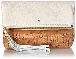 Jack Rogers Gioia Mini Clutch, Cork/White, One Size