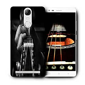 Snoogg Playing The Guitar Printed Protective Phone Back Case Cover For Lenovo K5 Note