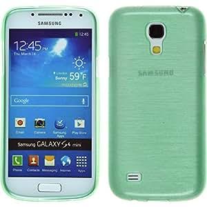 Silikon Hülle für Samsung Galaxy S4 Mini - brushed grün - Cover PhoneNatic Schutzhülle Case