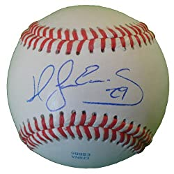 San Francisco Giants Hector Sanchez Autographed ROLB Baseball, 2012 World Series, Proof Photo