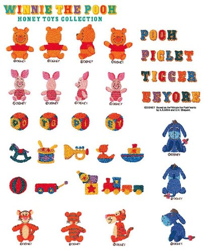 Brother SA313D Winnie the Pooh Toy Collection Emb Card (Brothers Embroidery Disney compare prices)