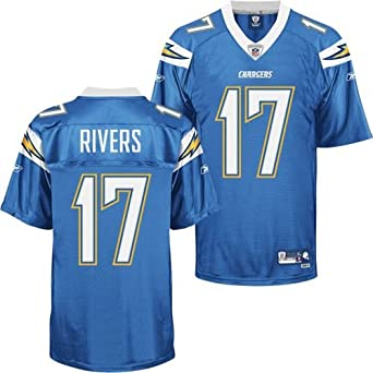 Reebok San Diego Chargers Philip Rivers Premier Alternate Jersey Extra Large by Reebok