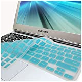 """GMYLE(R) Turquoise Blue Silicon Keyboard Cover (US Layout) for Samsung ARM 11.6"""" Chromebook Series 3 XE303C12 (Do Not Fit For Samsung Chromebook 2)"""