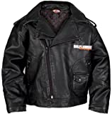 Harley-Davidson Boys Youth Upwing Eagle H-DMC Biker Jacket Black