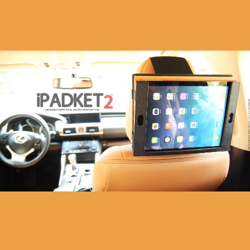 2014 With Or Without Case. Ipadket2 Premium Automobile Headrest Mount & Airplane Tray Table Mount For Apple Ipad. Fit All Ipad Models 1 2 3 4 & Ipad Air With Or Without Case front-172663