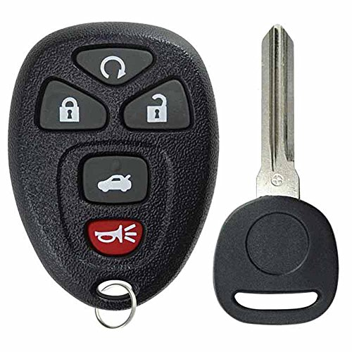KeylessOption Keyless Entry Remote Control Car Key Fob Replacement for 22733524 with Key (2008 Pontiac G6 Remote Key Fob compare prices)