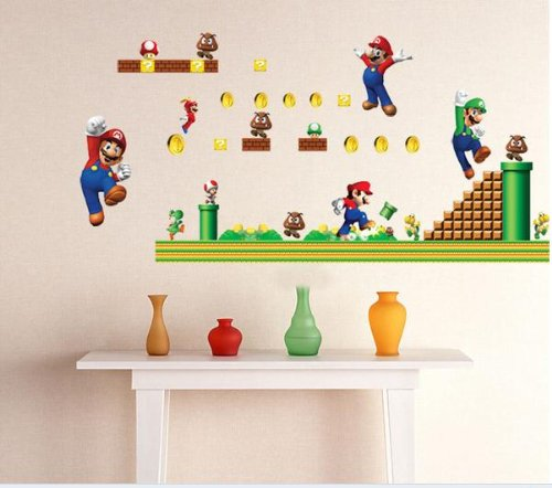 Mario Bors Wall Decal For Kid'S Room Decor Sticker Removable Boy'S Room Wall Decor Super Mario Sticker front-944326
