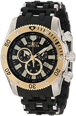 Invicta Men's 10251 Sea Spider Chronograph Black Dial Watch