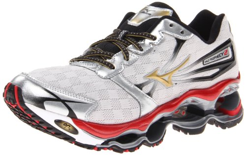 Mizuno Men's Wave Prophecy 2 Running Shoe,Silver,11 D US