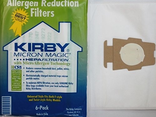 Buy Bargain Kirby Universal Bag Kirby #204811 - Universal Hepa White Cloth Bags for All Generation &...