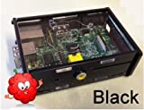 PCSL / Adafruit Black – Case / Box / Enclosure for Raspberry Pi Computers – Mr Raspberry's Fantastic Case – Manufactured in the UK with permission by Adafruit Industries – Licensed Product – FREE Amazon UK Delivery