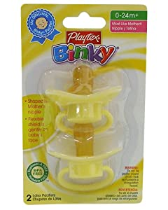 Playtex Baby Binky Most Like Mother Latex Pacifiers - Yellow