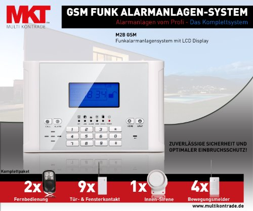Multi Kon Trade GSM Funk Alarmanlage Set-4 M2C