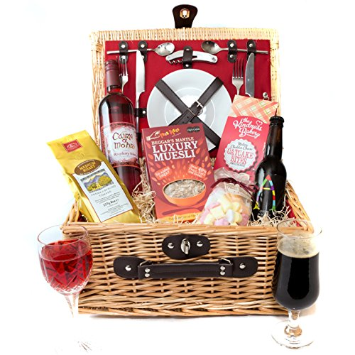 Fitted Hamper For Two With Wine, Beer And Snacks - By Stag Hamper Co
