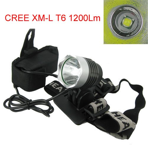 Waterproof Super Bright CREE XM-L T6 1200Lm 3 Models LED Bike Headlight Bicycle Light and Headlamp