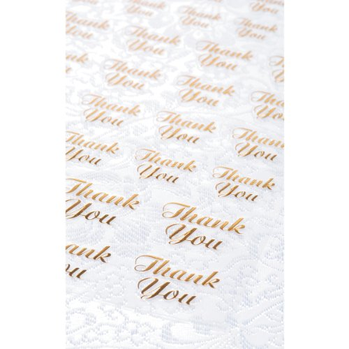 Clear Stickers 47/Pkg-Gold Thank You