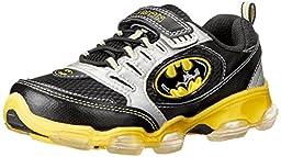 Stride Rite Batman Light-up Athletic Shoe(Infant/Toddler/Little Kid),Black/Yellow,3 W US Little Kid