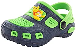 Phonix Unisex Kids Green and Blue Synthetic Crocs - 5 UK