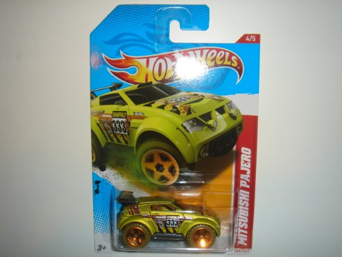 2012 Hot Wheels Thrill Racers - Swamp Rally 'Mitsubishi Pajero Mint Green #189/247 - 1