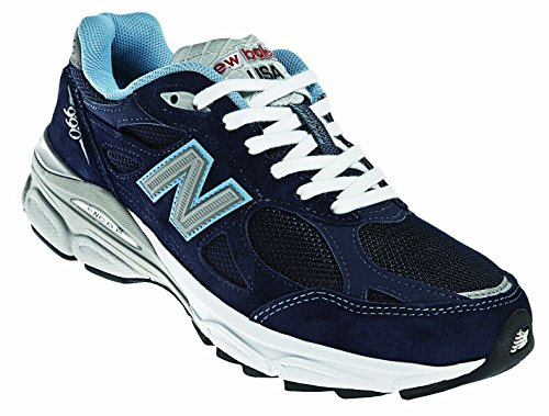 New Balance W990 Version 3 Women's Running Shoe, Size: 8.5 Width: 2E Color: Navy/White