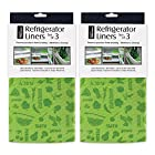 DII Kitchen Millennium Washable, Non Adhesive Refrigerator Bins and Shelves Liners - Includes 6 Fit to Cut in Green