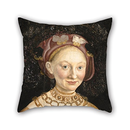 Alphadecor Oil Painting Hans Krell - Portrait Of Princess Emilia Of Saxony Pillow Cases 18 X 18 Inches / 45 By 45 Cm Gift Or Decor For Girls,living Room,shop,wife,deck Chair,adults - Two (Decorative Deck Fringe)
