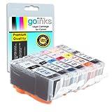 1 Compatible Set of 6 Canon PGI-525 & CLI-526 Printer Ink Cartridges (6 Inks) - Black / Cyan / Magenta / Yellow / Grey for Canon Pixma MG6150, MG6150, MG6250, MG8150, MG8250, MG8220