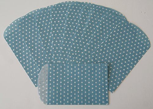 Spritz Paper Party Favor Bags - Blue Polka Dot - 10 Ct