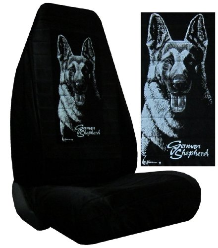 Find Out Seat Cover Connection German Shepherd Silhouette