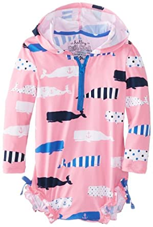 Hatley baby baby girls infant rash guards for Baby rash guard shirt