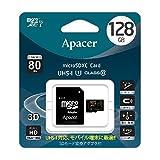 Apacer アペイサー AP128GMCSX10U1-J microSDXC UHS-I Class10 128GB 国内代理店3年保証品