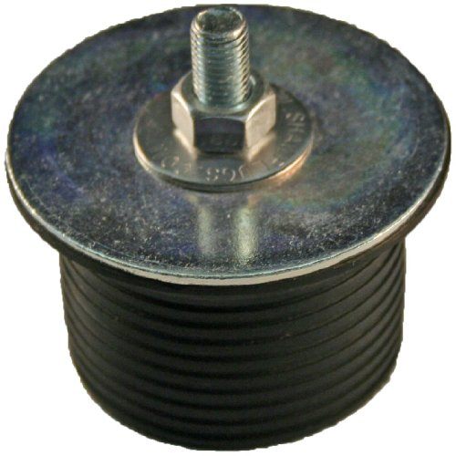 Shaw Plugs 62005 Hex Nut Expandable Neoprene Rubber Plug with Zinc Plated Steel Hardware, 2