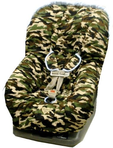 Daddy Camo Blue Trim Couture Toddler Car Seat Cover