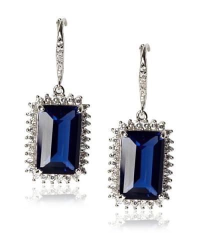 CZ by Kenneth Jay Lane Sapphire Blue Emerald-Cut Earrings