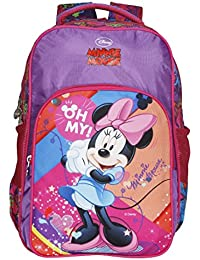 Disney School Bag For Girls 07+ Years Minnie Mouse Oh My 25 (L) Purple (Dm-0034)